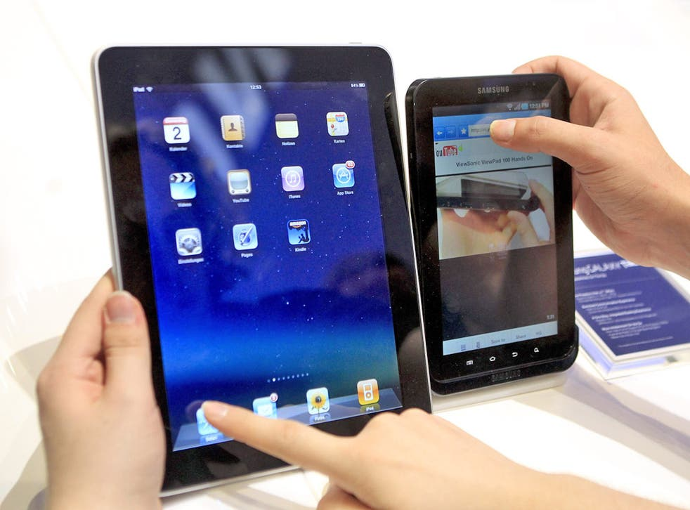 The judge said the Samsung product (right) did not have the same 'understated simplicity' of the iPad