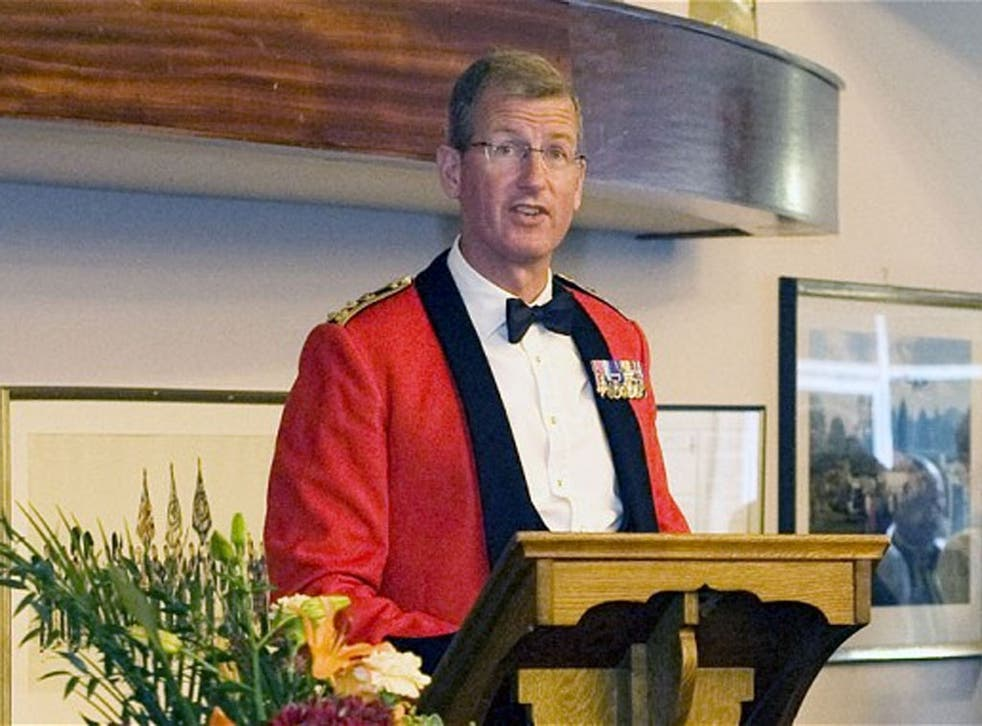 Brigadier David Paterson, the honorary Colonel of the Royal Regiment of Fusiliers