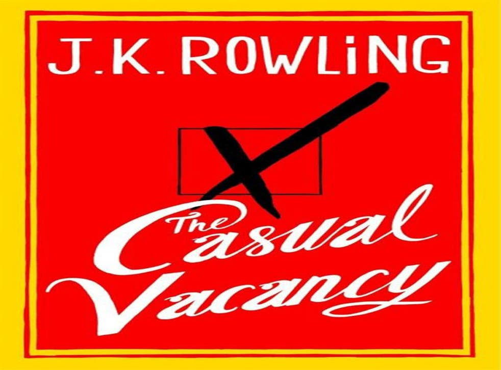 The front cover of 'The Casual Vacancy' showing an X on a ballot paper