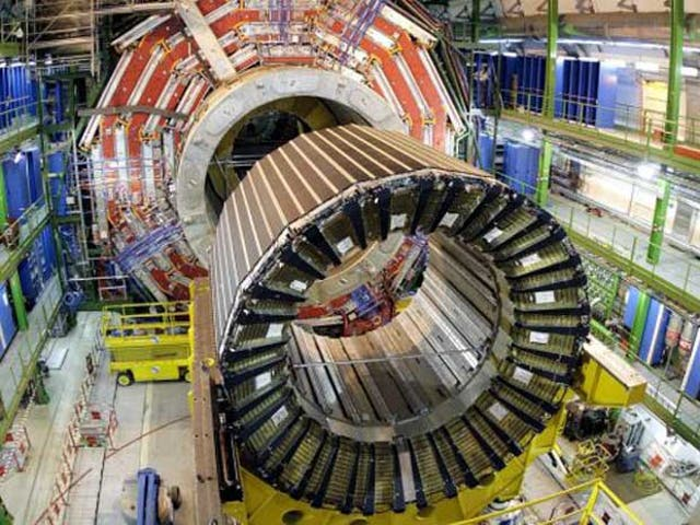 <p>The Large Hadron Collider at Cern, where scientists are studying the decay of a subatomic particle known as the 'beauty quark' </p>