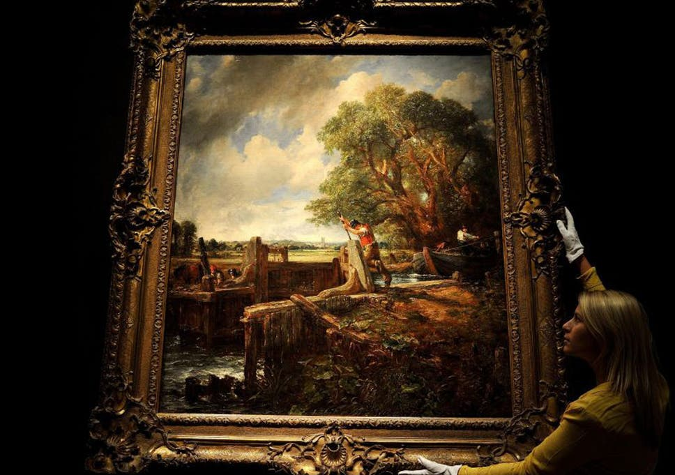The Lock, 1824, 142 2cm x 120 7cm, by John Constable | The