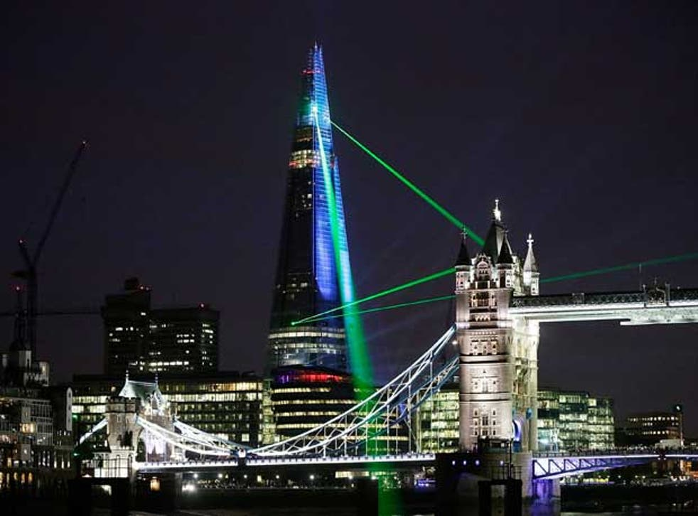 The Shard was officially unveiled yesterday