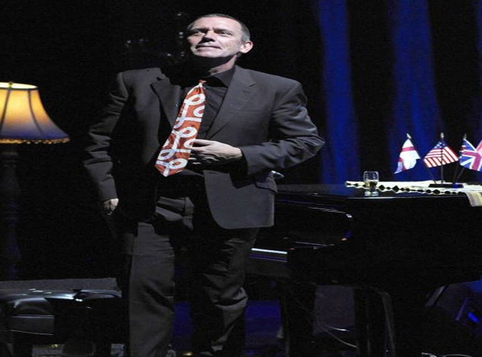 Hugh Laurie - comedian, actor, now musician - on stage