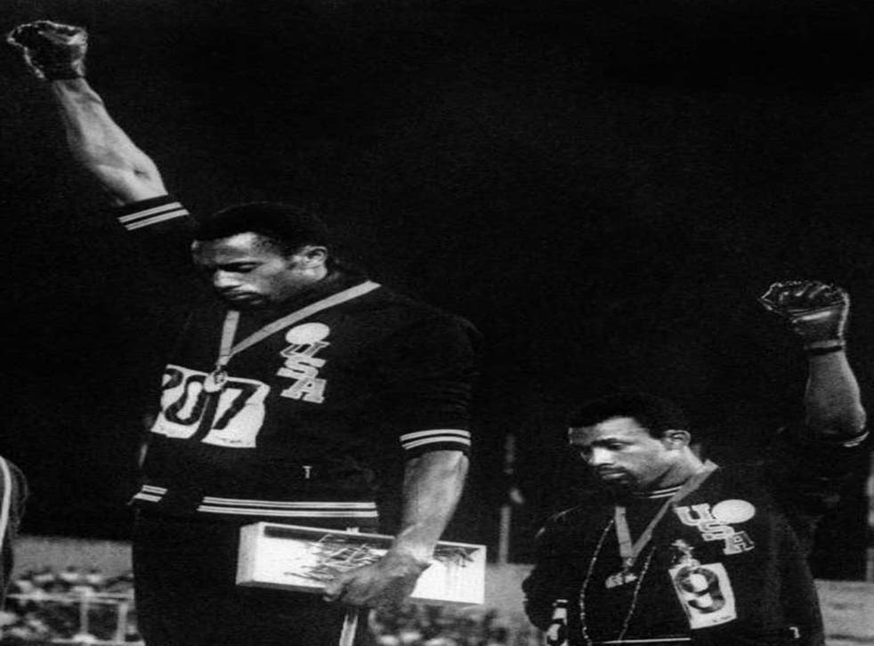 Tommie Smith (left) and John Carlos make the Black Power salute