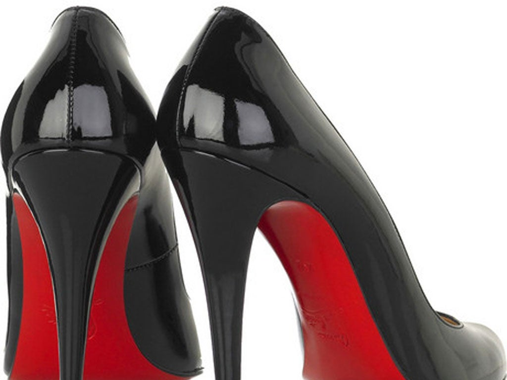 Inch Heels Shoes Red Soles