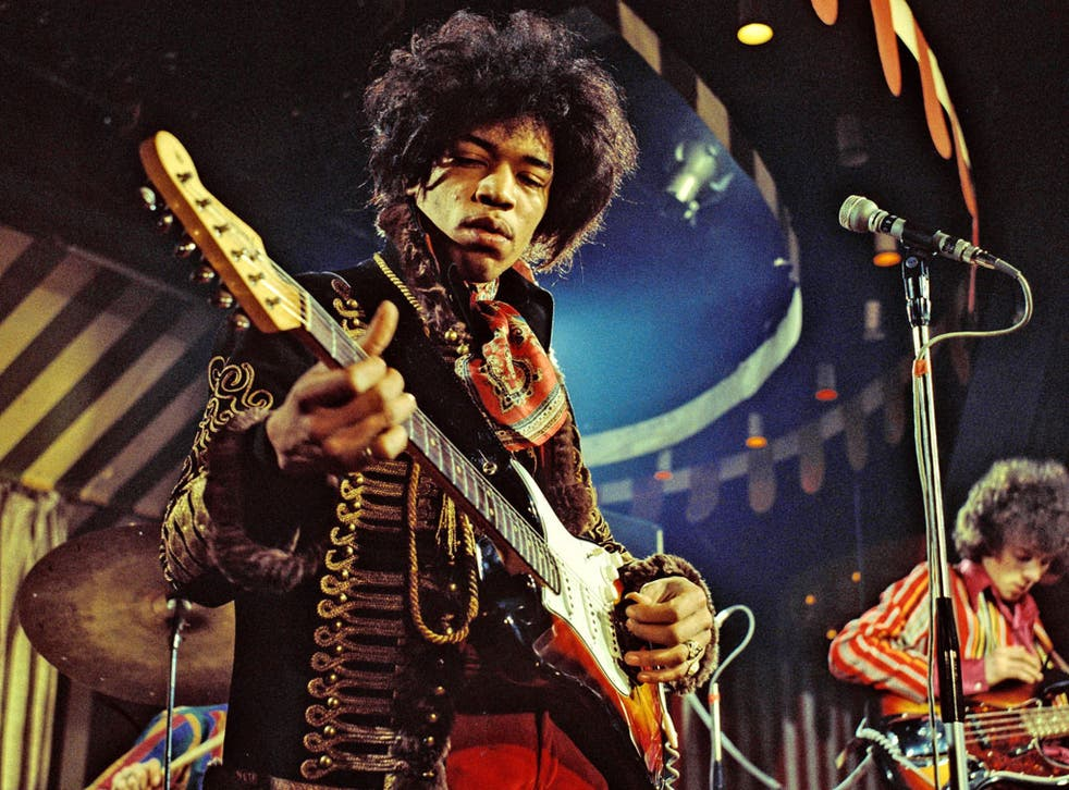 Guitar man: Hendrix playing at central London's Marquee Club back in 1967