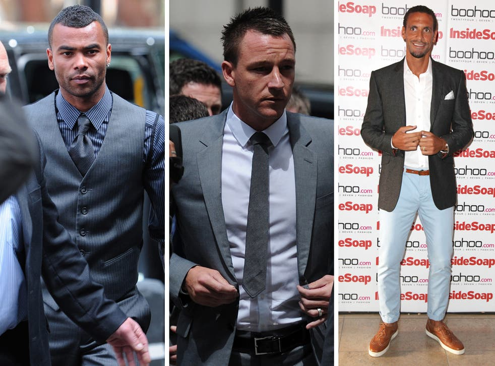 From left: Ashley Cole, John Terry and Rio Ferdinand.
