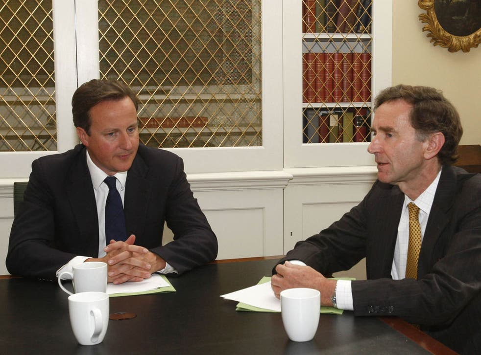 Stephen Green speaks with David Cameron in 2010
