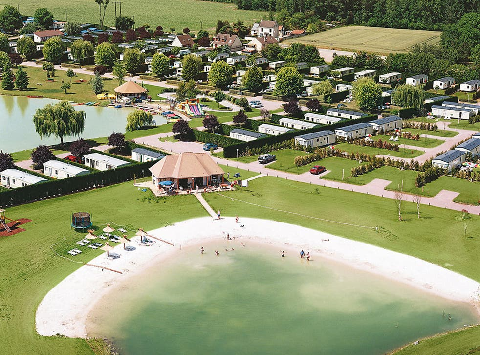 An overview of a French holiday park
