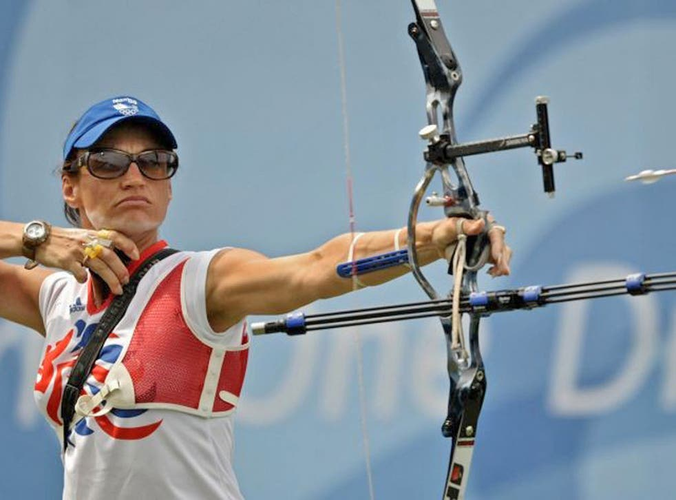 Alison Williamson in the Beijing Games where she narrowly missed out on a bronze medal