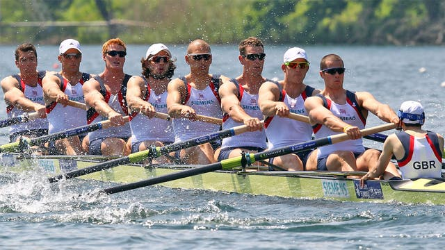 Greg Searle (far left) with the Great Britain men's eight