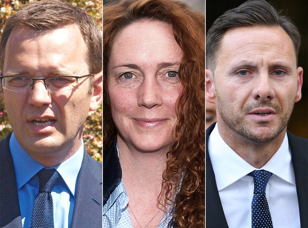 Andy Coulson, Rebekah Brooks and Glenn Mulcaire