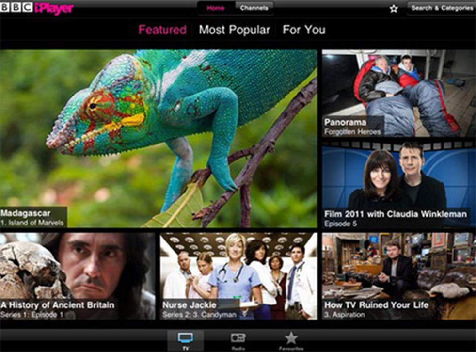 4. iPlayer app  <p>Free, iOS and Android</p>  <p>Everyone's favourite playback service comes to your tablet or phone. The upshot is that you can watch playbacks of past events as you are waiting to see current ones. Brilliant.</p>