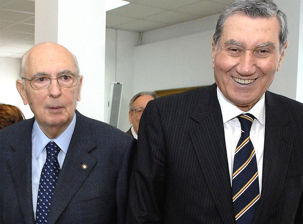 Nicola Mancino, right, was recorded phoning President Giorgio Napolitano, left