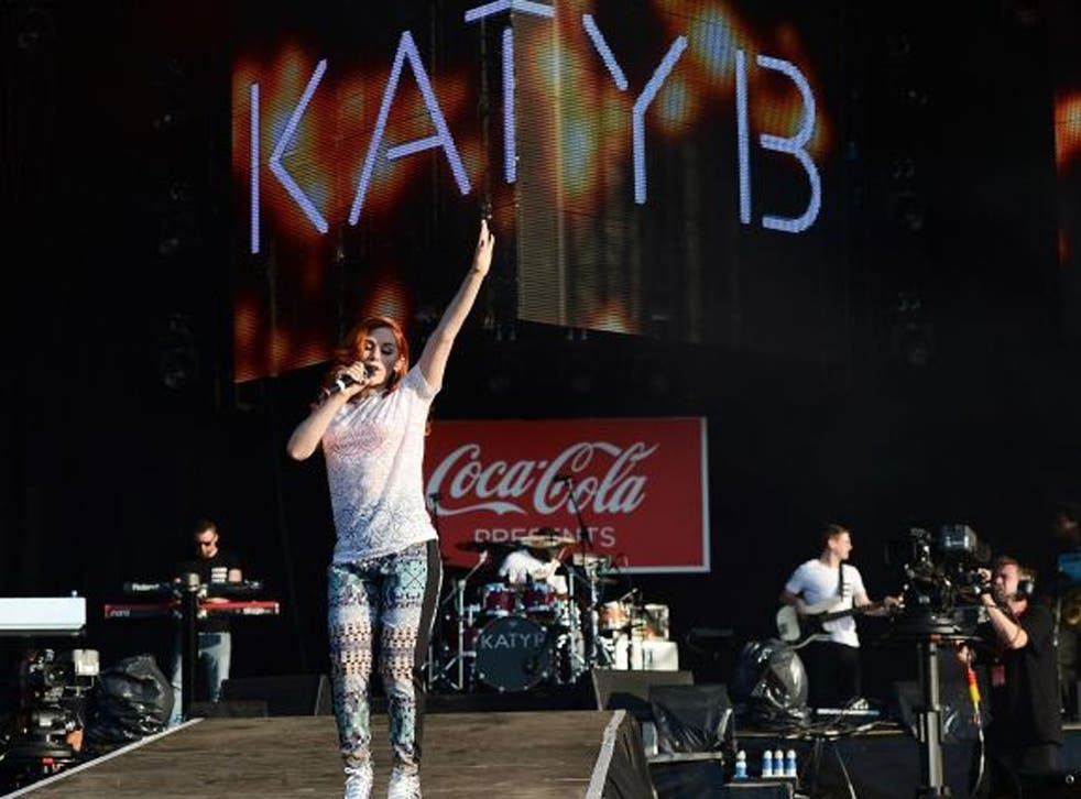 Katy B was a flash of quality on a night when sponsors seemed to dominate