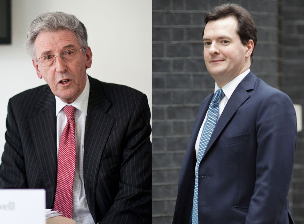 Family ties: George Osborne, right, and his father-in-law Lord Howell, are both supporters of fossil fuels