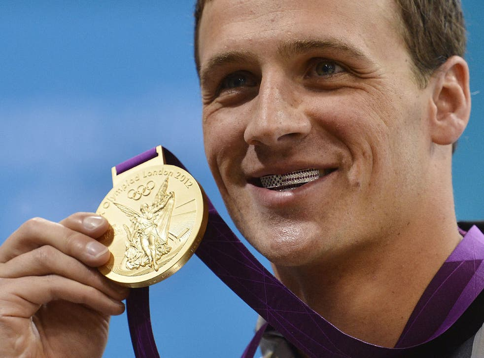 Ryan Lochte has something to smile about after winning the 400m individual swimming medley