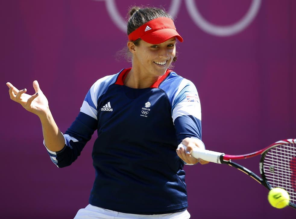 July 30, 2012: Laura Robson in action at Wimbledon