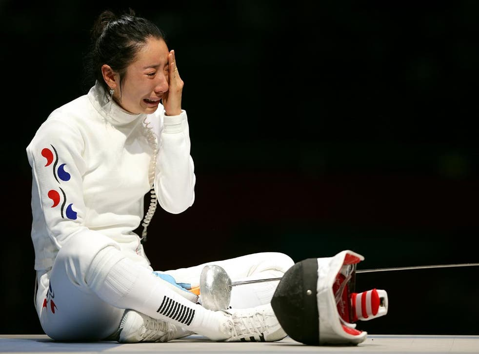 July 30, 2012: Shin Lam was left in tears after controversy in the fencing