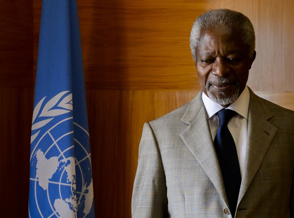 Mr Annan will not renew his mandate when it expires on 31 August
