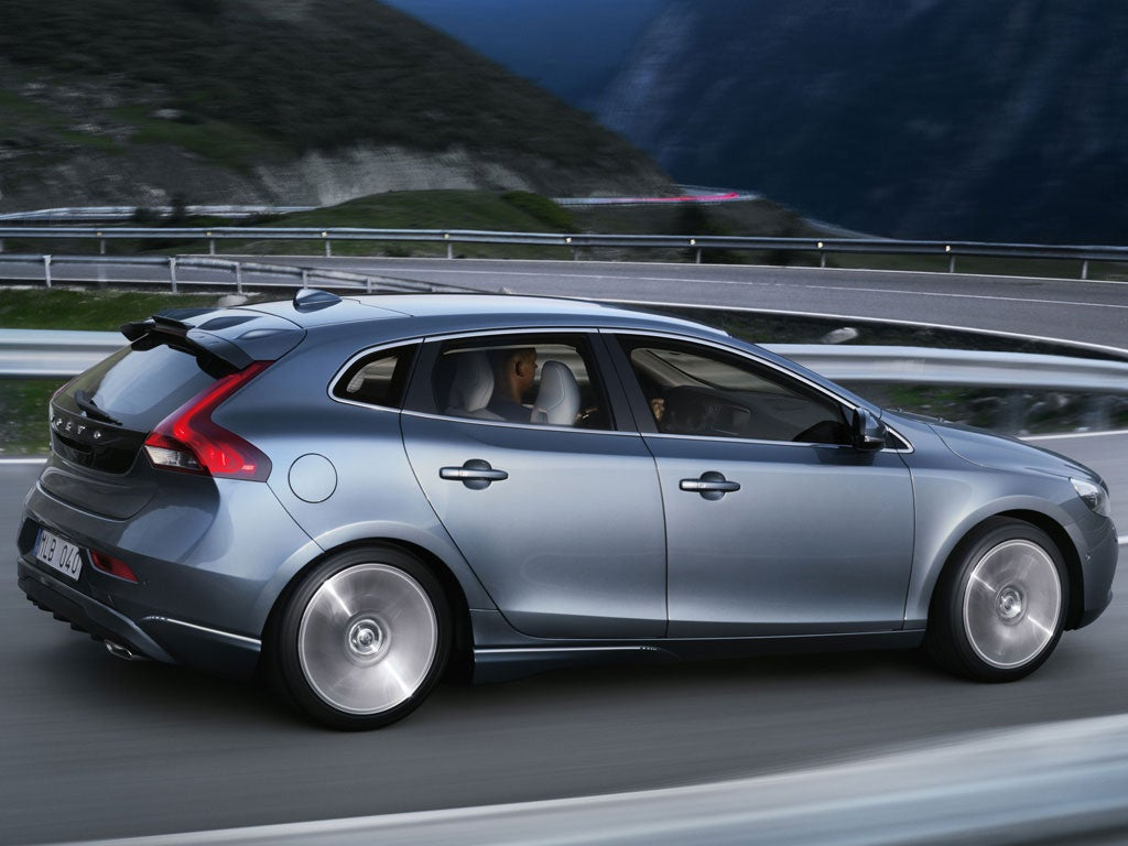 volvo v40 d3 the independent. Black Bedroom Furniture Sets. Home Design Ideas