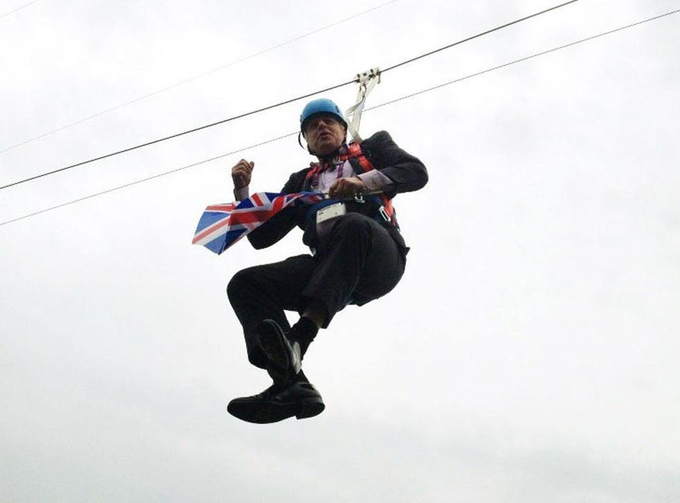 Boris Johnson's encounter with a zip wire this week only served to prove how adept the London Mayor is at defying political gravity