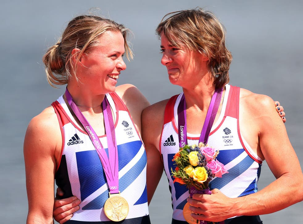Katherine Grainger and Anna Watkins win gold for the women's double sculls rowing event on day seven of the Olympics