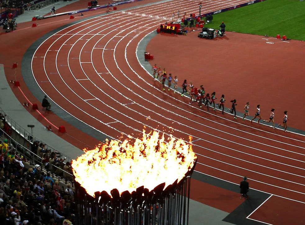On fire: the giant cauldron