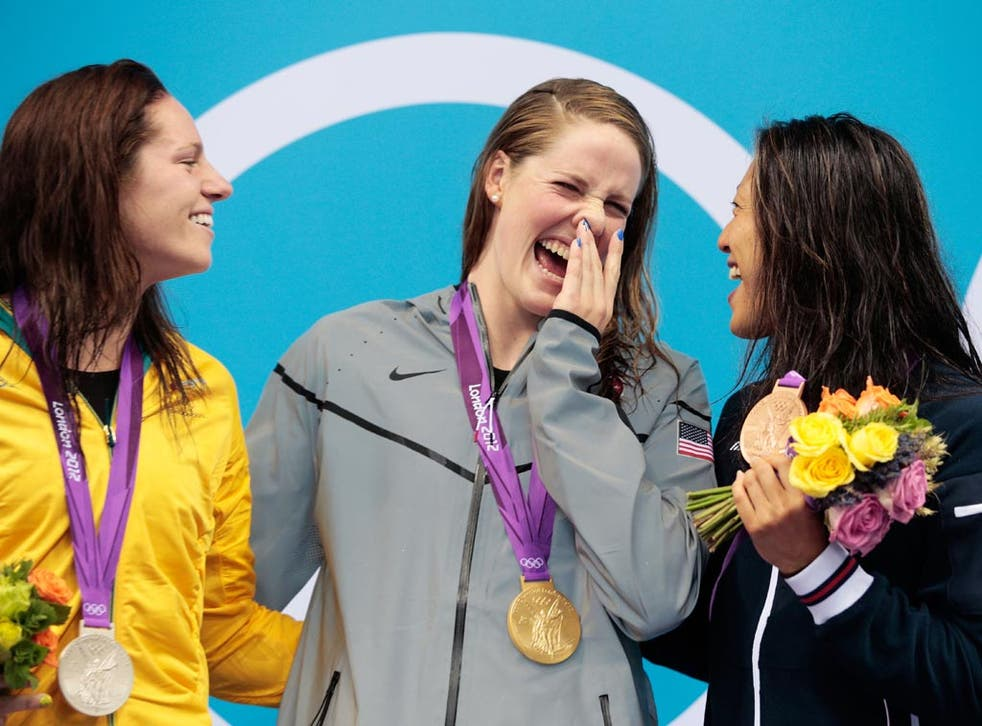 Silver medalist Emily Seebohm of Australia beaten to the gold by Missy Franklin