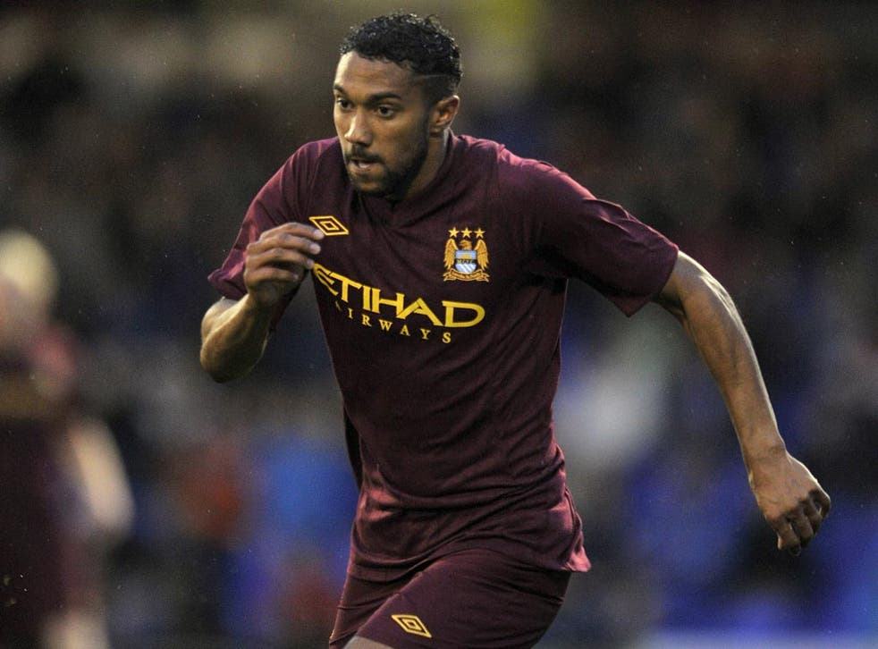 Gael Clichy in pre-season action for Manchester City