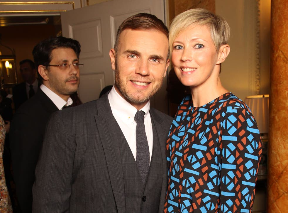 Pop star Gary Barlow and his wife Dawn