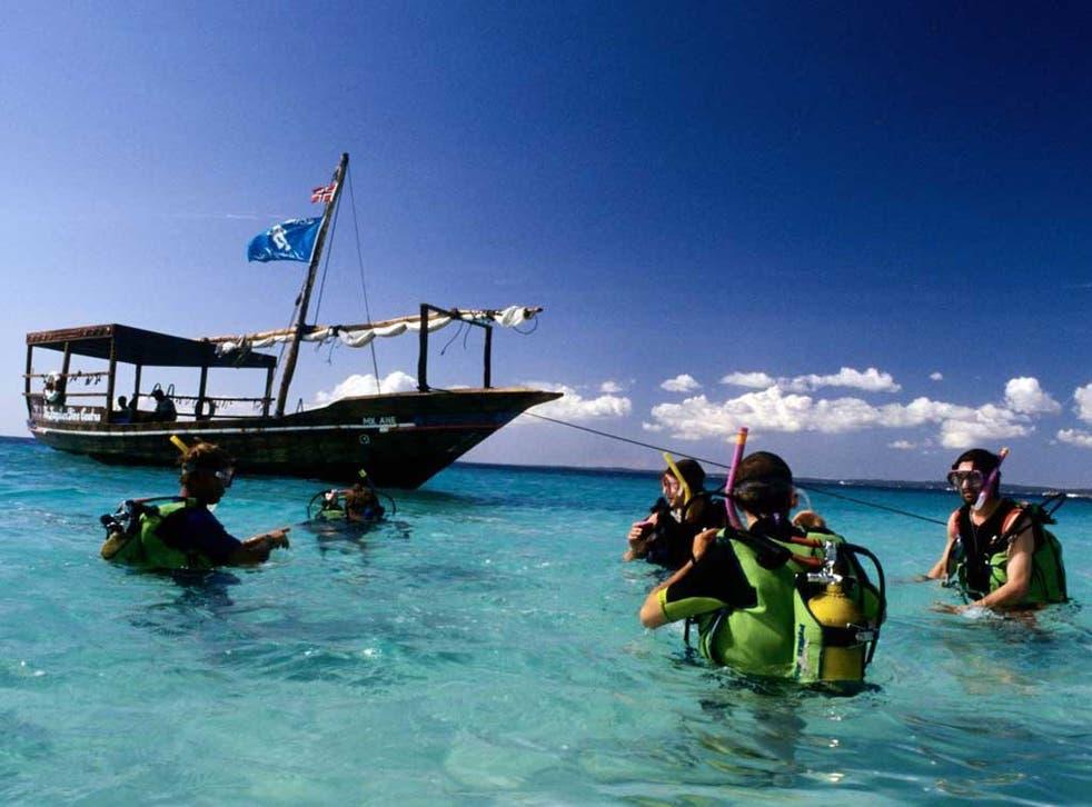 Zanzibar offers excellent diving