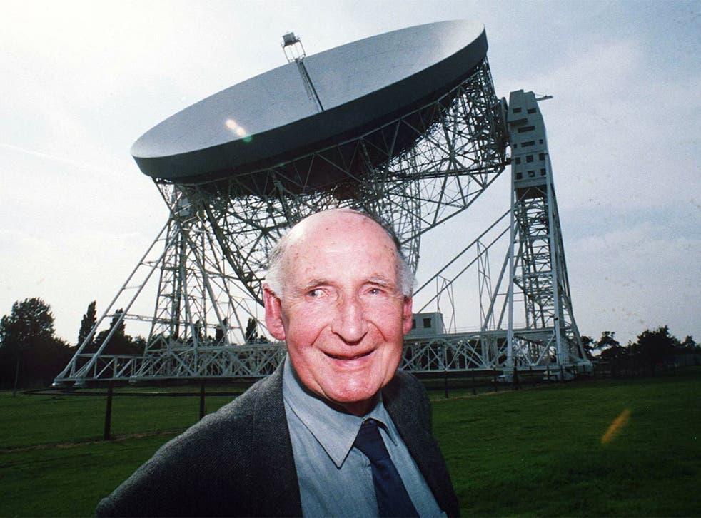 Sir Bernard Lovell at the Jodrell Bank Observatory