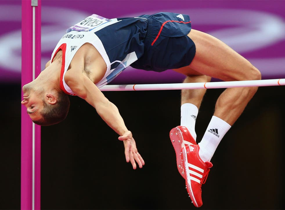 Robbie Grabarz on his way to winning high jump bronze last night
