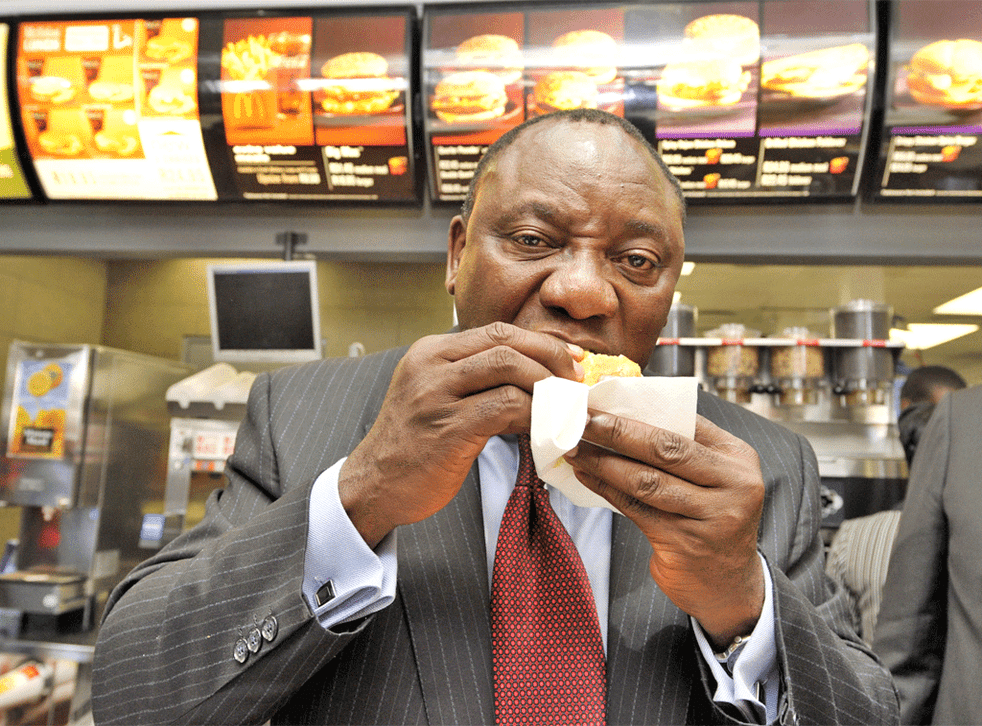 Businessman Cyril Ramaphosa took control of McDonald's stores in South Africa last year