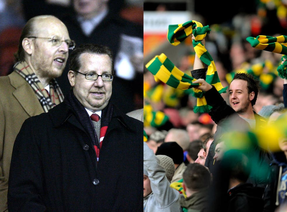 The sponsorship deals of Avram Glazer, left, and brother Bryan have angered Manchester United supporters, who have staged 'Green and Gold' protests