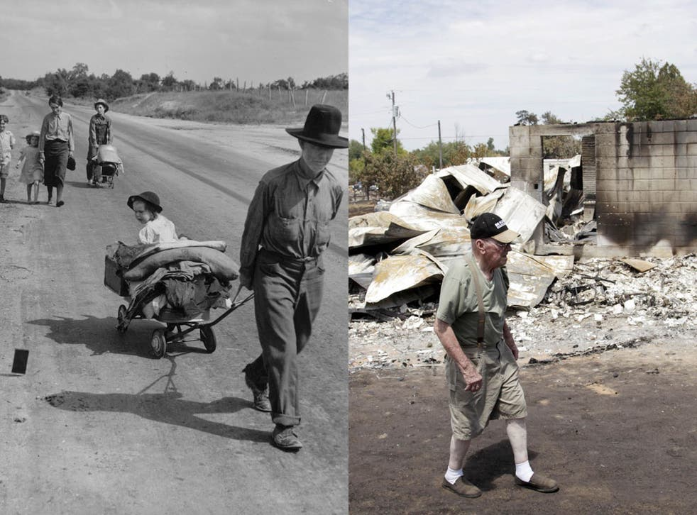 Oklahoma in 1938, and in 2012: Once again families have been forced off the land, but some say the heat is worse than the Thirties drought