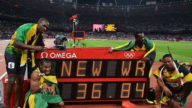 Usain Bolt wins third gold medal of London 2012 as Jamaica ...