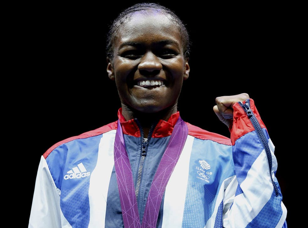 Prize fighter: Nicola Adams with her medal