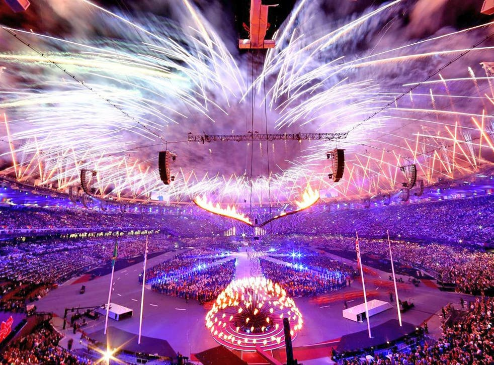 The closing ceremony ended with a fireworks spectacular over the Olympic Stadium