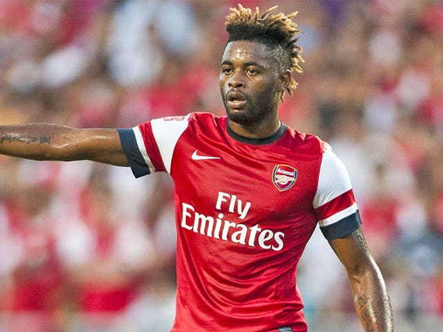 Alex Song represented Arsenal before moving to Barcelona