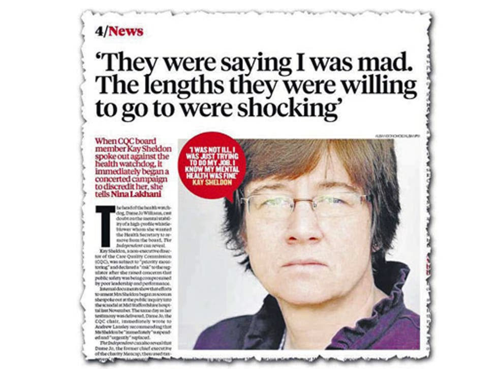 How The Independent revealed Kay Sheldon's case yesterday