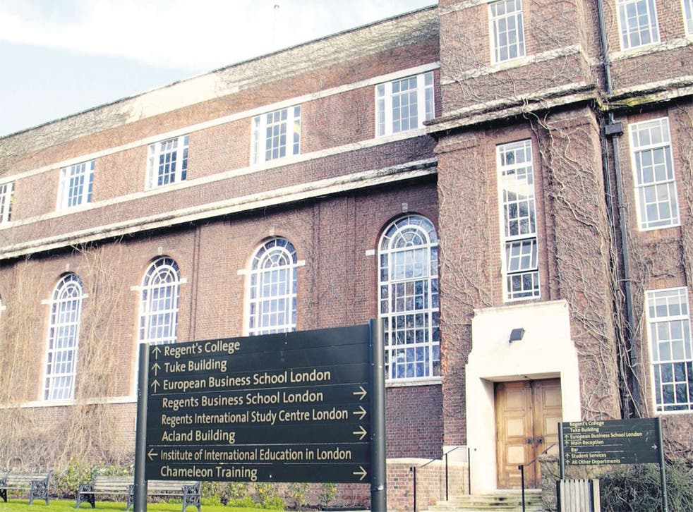 Regent's College London will be able to grant its own degrees from September and aims to have university status by 2013