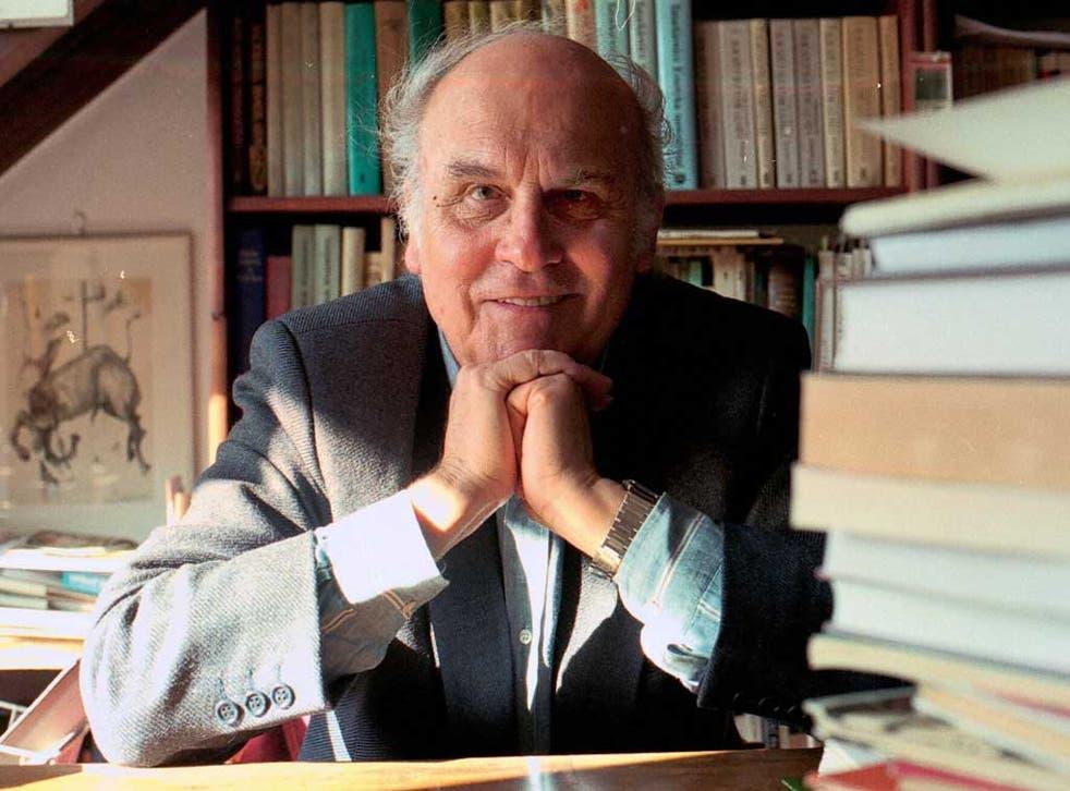 Casting a spell: Ryszard Kapuscinski, in his office in Warsaw