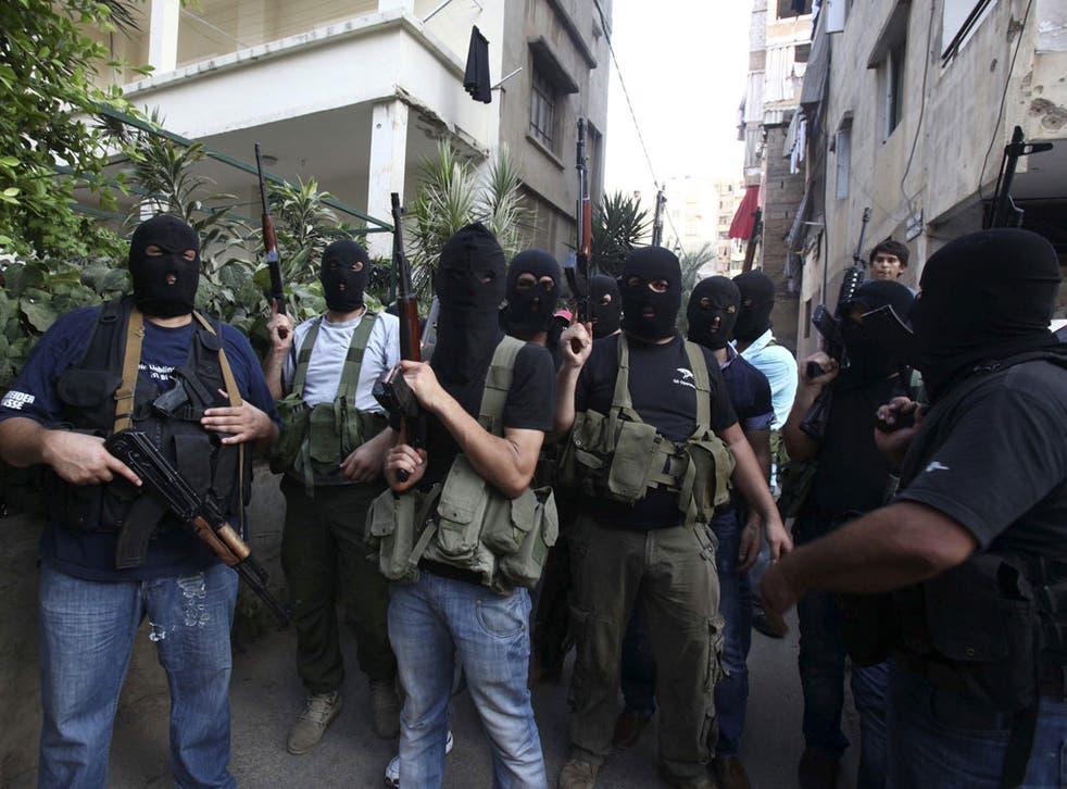 Lebanese gunmen from the al-Moqdad clan in southern Beirut