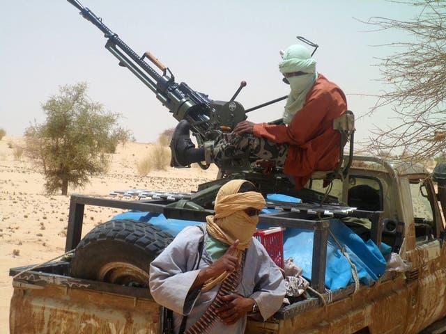Ansar Dine rebels near Timbuktu