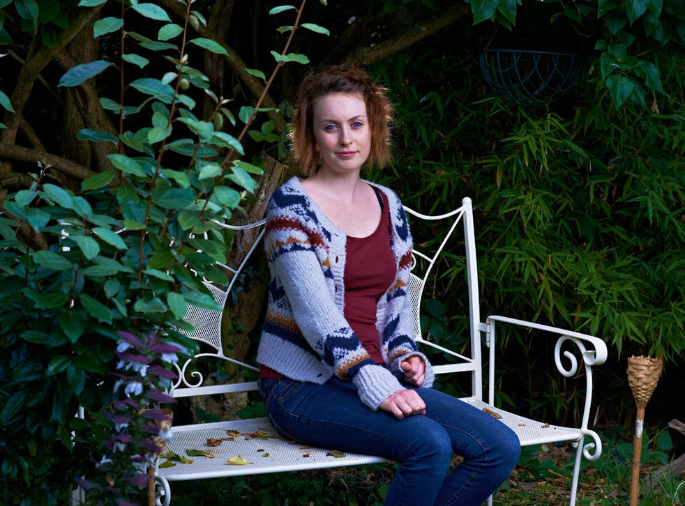 No desire to know about sex: Amy Gallagher, 20, at her home in High Barnet, London, on Friday