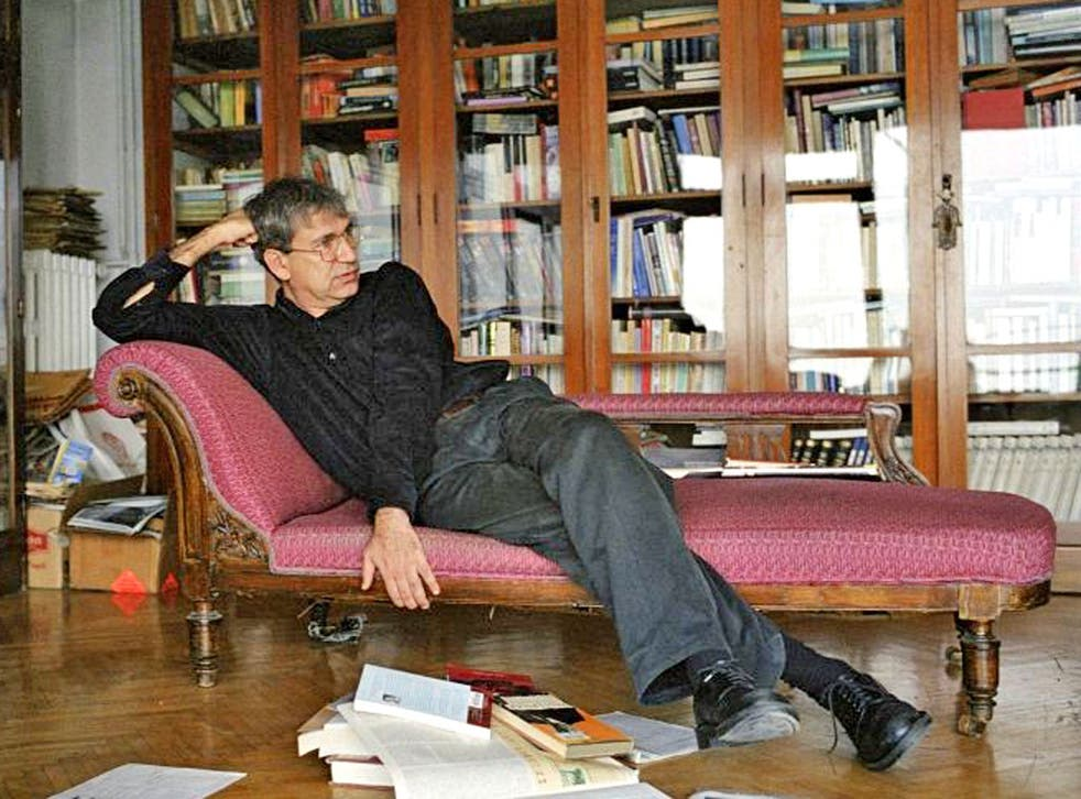 The writer at his home; he says he has a house full of a thousand objects gathered when he was writing 'A Museum of Innocence'