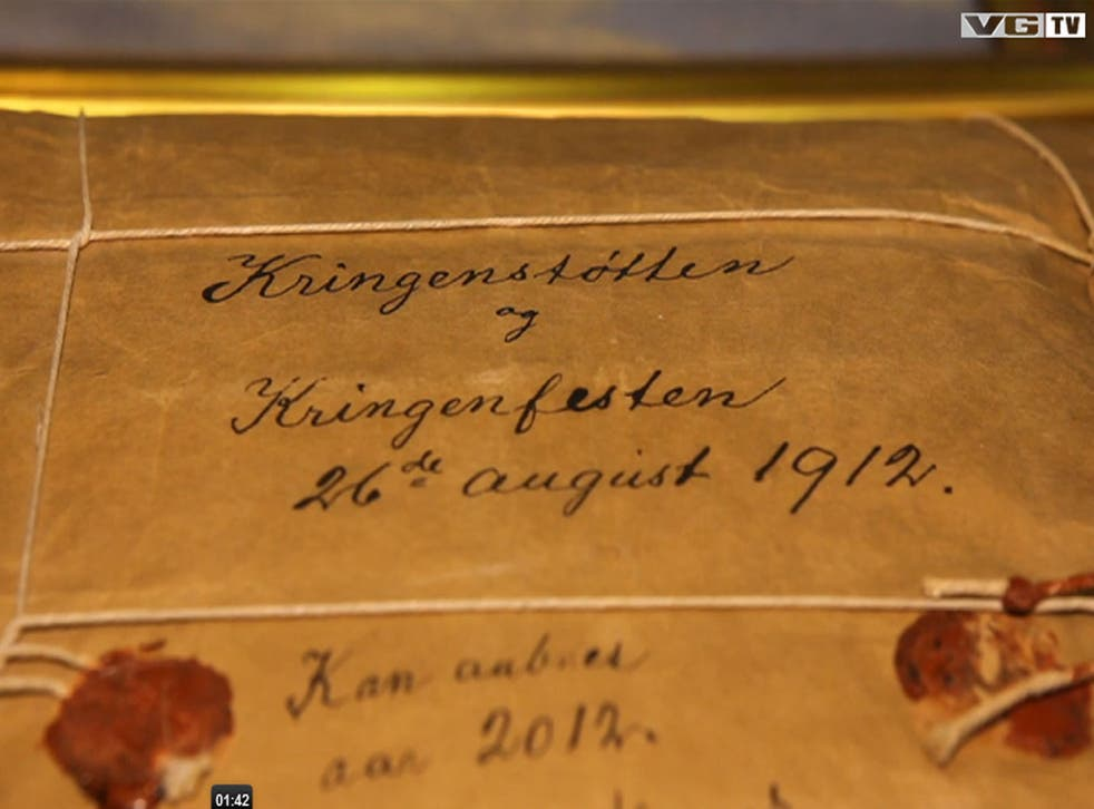 The package was sealed in 1912 by the then municipality's mayor, Johan Nygaard and aside from a couple of occasions when it was nearly misplaced the package has remained largely undisturbed