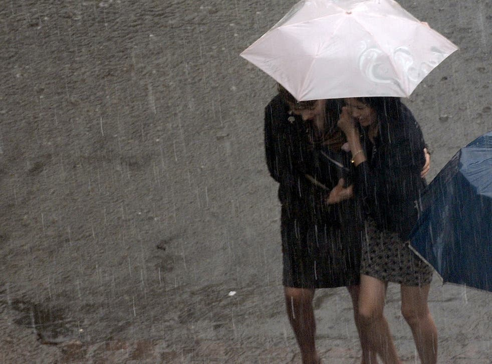 Forecasters are warning of widespread and frequent heavy showers and thunderstorms, with torrential rain in some places